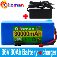 36V 10s4p  30Ah electric bicycle battery built-in 20A BMS lithium battery pack 4.2v  charging Ebike battery + charger