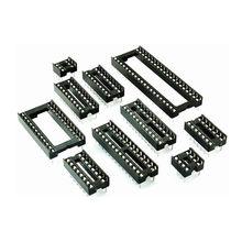 10 Uds. De conectores IC DIP6 DIP8 DIP14 DIP16 DIP18 DIP20 DIP28 DIP40, enchufe DIP de conector de 6, 8, 14, 16, 18, 20, 24, 28 y 40 pines
