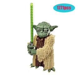 Новинка, Legoinglys, серия Звездных войн, йода, строительные блоки, кирпичные игрушки, Детский Рождественский подарок, совместимый 75255