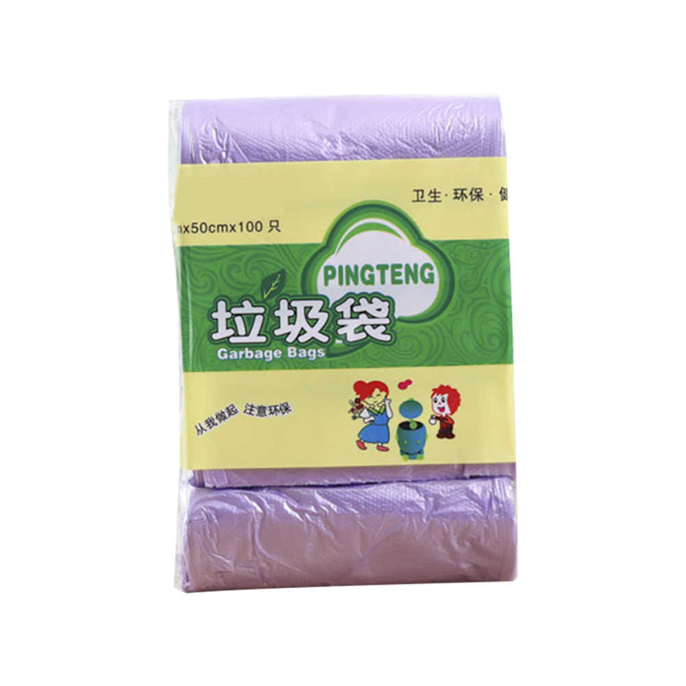 Spot 100 Counts Disposable Garbage Bag Trash Bags For Bathroom Trash Can Kitchen Bin Liners Qp2 Mullbeutel Aliexpress