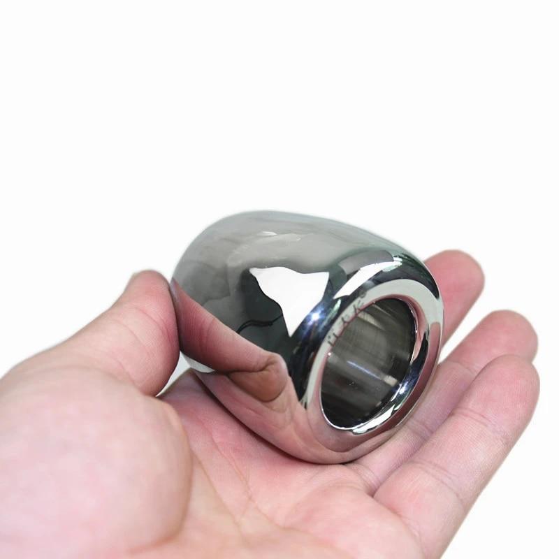 acier inoxydable lourd gland anneau penis manchon anneau penis boitier manchon anneau poids pour male jouets sexuels bb2 2 123