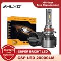 HLXG h7 led canbus HB4 H11 H8 9012 hir2 20000LM HB3 9005 9006 Лампа H4 led головной светильник ходовой противотуманный светильник диодны елед лампы для авто h4 h7 светодио...