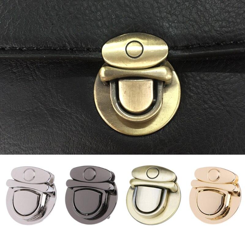 Bronze Nickel Gold Gunmetal Twist Lock Hardware For Bag Shoulder Handbag DIY Craft Turn Locks Clasp 3 X 3.4 Cm