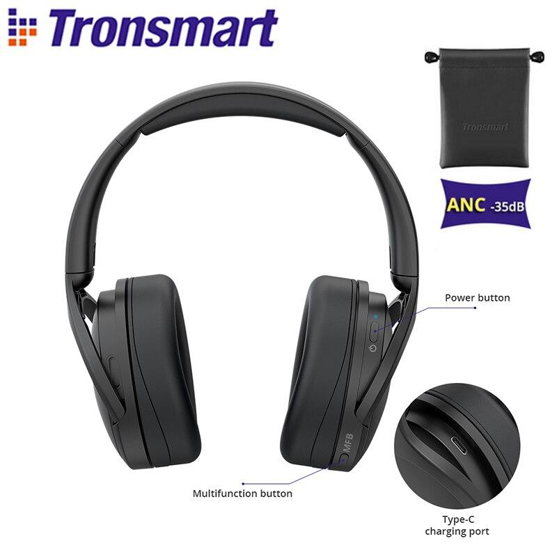 Tronsmart Apollo Q10 Bluetooth 5,0 наушники с системой активного шумоподавления Беспроводная гарнитура with100-hour удовольствия от игры, сенсорный экран/App упр...