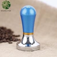 Duolvqi Praktische Koffiezetapparaat Druk Poeder Hamer Koffie Stampers Aluminium Druk Bar Koffie Tamper 57 Mm Koffie Gadget