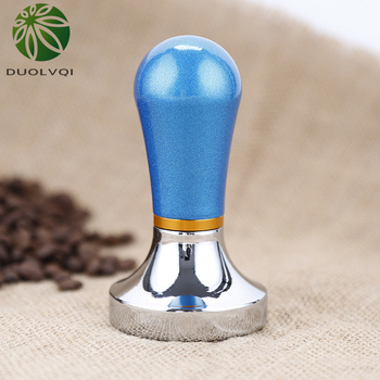 Duolvqi praktyczny ekspres do kawy ciśnienie w proszku młotek ubijak do kawy s aluminium ciśnienie Bar ubijak do kawy 57mm gadżet kawy tanie i dobre opinie KG05K- Flat
