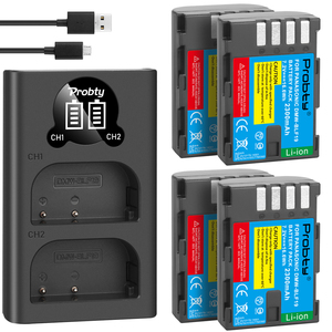Image 1 - 2300mAh DMW BLF19 DMW BLF19 BLF19E DMW BLF19e DMW BLF19PP Battery+ LED Dual USB Charger for Panasonic Lumix GH3 GH4 GH5 G9