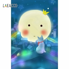 Laeacco Fairy Tale Photography Background Baby Moon Vinyl Seamless Children Birthday Photophone Backdrop For Photo  Studio Wall free shipping fairy tale digital kids studio photography background backdrop 5x10ft baby children fabric backdrop a 1187