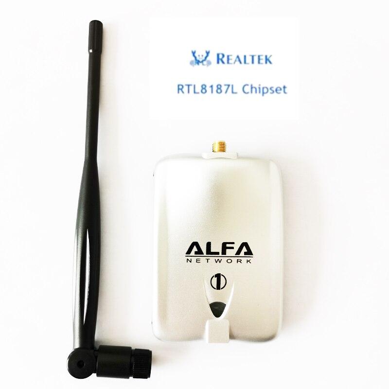 Набор микросхем ALFA RTL8187L, 54 Мбит/с, Беспроводная USB Wi-Fi сетевая карта 2000 МВт, беспроводной USB Wi-Fi адаптер (для Kali Linux)
