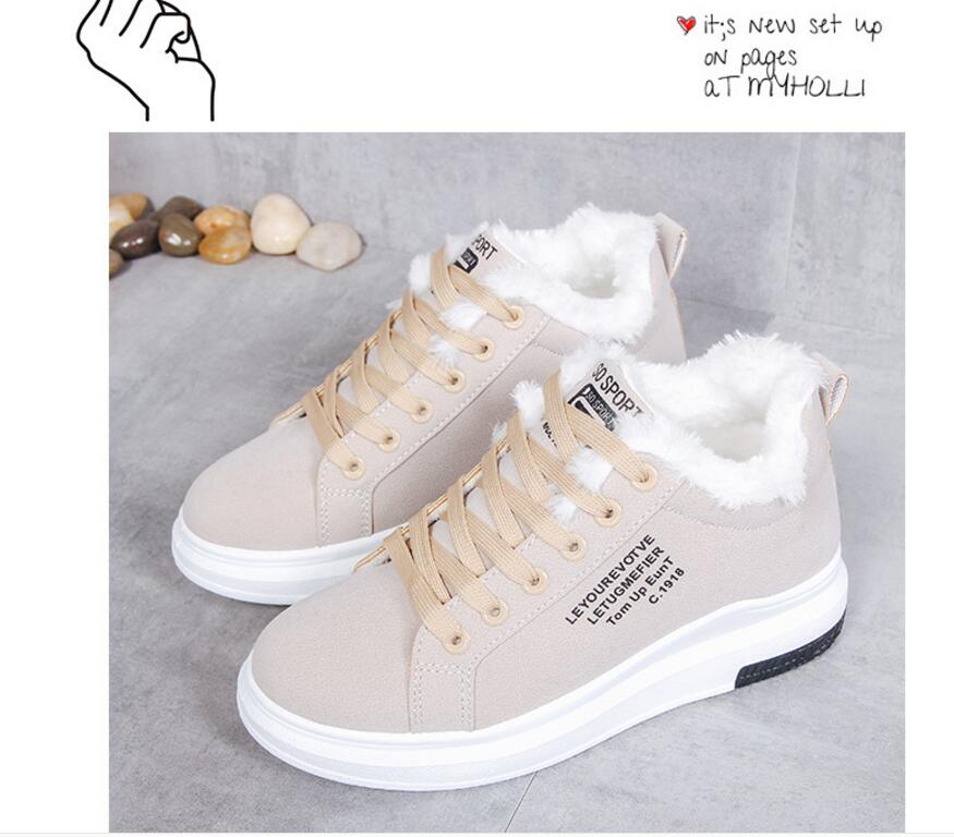 Cotton Shoes Female New Women's Boots Winter Plus Velvet Cotton Shoes Thick-Soled Warm Snow Women's Boots Women's Cotton Boots 12