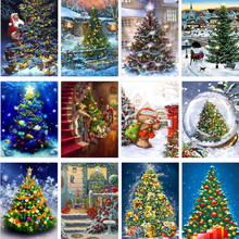 5D DIY Diamond Painting Christmas Tree Full Diamond Embroidered Cross Stitch 5D Home Decoration Christmas Gift 5d diy diamond painting christmas snowman 3d diamond embroidered home decoration diamond cross embroidery gift