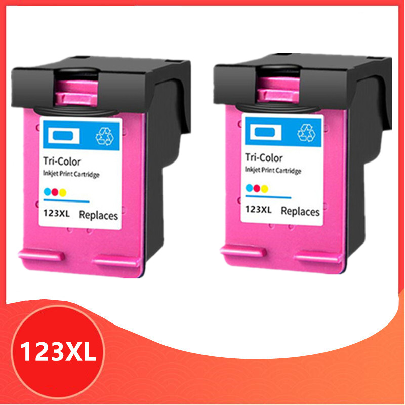 Color Compatible for <font><b>hp</b></font> 123 XL Replacement <font><b>ink</b></font> Cartridge for hp123 123XL for Deskjet 1110 2130 2132 2133 2134 <font><b>3630</b></font> 3632 3637 image