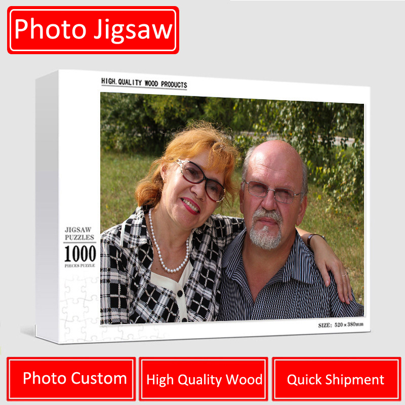 200/300/500/1000/ Pieces Wooden Photo Custom Jigsaw Puzzle DIY Personalized Gifts Puzzles For Kids Adult 1