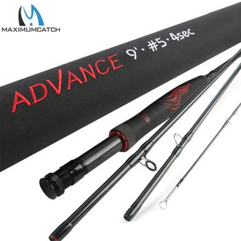 Maximumcatch Advance Fly Fishing Rod 5/6/8wt 9FT Super Light Fast Action Flexible Resins Handle with Cordura Tube Fishing Pole aventik 9ft and 12ft mini tenkara fishing rod super light slim short fly fishing rod with carbon tube fly fishing tenkara rod