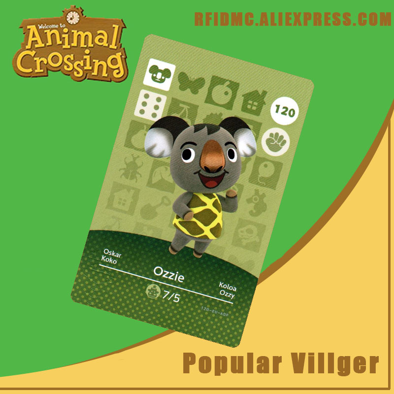 120 Ozzie Animal Crossing Card Amiibo For New Horizons