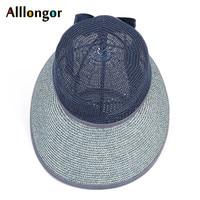 New 2021 summer straw hat for women wide brim beach cap uv protection visor sun hats bow korean style panama floppy sunhat
