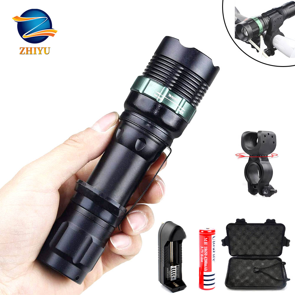 ZHIYU Bicycle Light Flashlight CREE XPE Aluminum Alloy Wick Glare Outdoor Lighting Torch, Camping Lights, Work Electric Torch