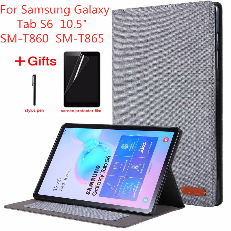 For Samsung Galaxy Tab S6 10.5 Inch T860 Tablet Cases For Tab S6 10.5'' SM-T860 SM-T865 Flip Stand Cover Soft Protective Shell