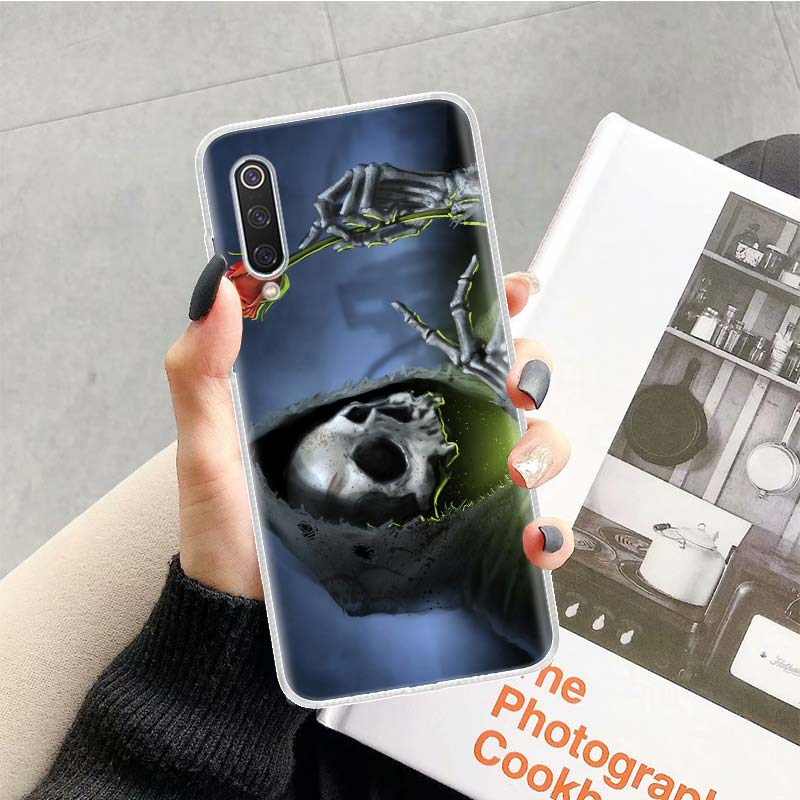 Skull Skeleton Grim Reaper Case For Xiaomi Redmi Note 10 9 9S 8 7 6 8T 8A 7A 6A S2 K30 K20 MI 9 8 CC9 F1 Lite Pro Soft TPU Phone