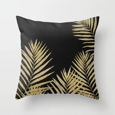 Black Tropical Cushion Cover  4