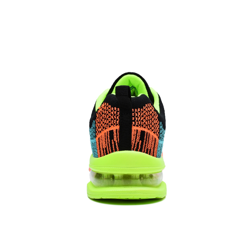 Homem mulher respirável malha de ar malha coxim formadores tênis esportes tênis viagem ao ar livre andando jogging calçados luz - 5