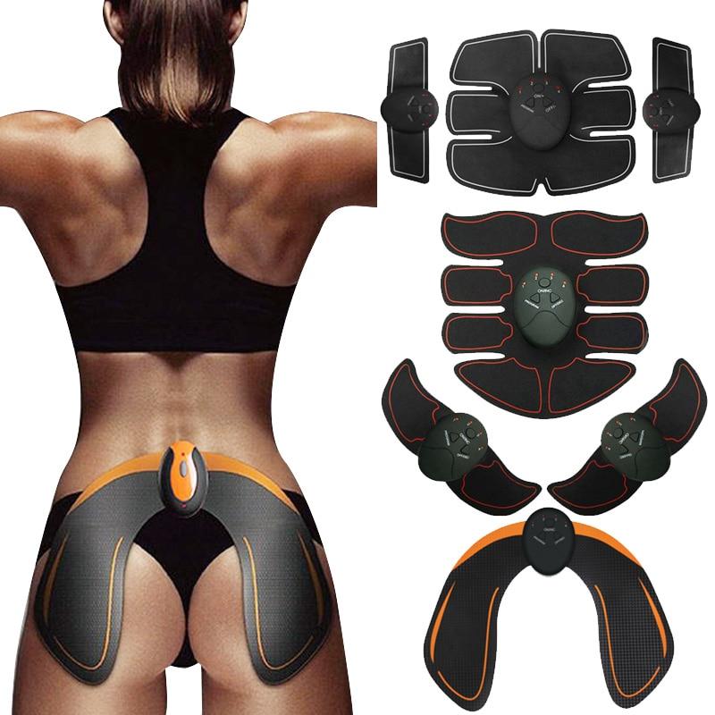 EMS stimulateur musculaire sans fil ABS entraîneur de muscles abdominaux Toner corps Fitness hanche formateur mise en forme Patch minceur formateur unisexe