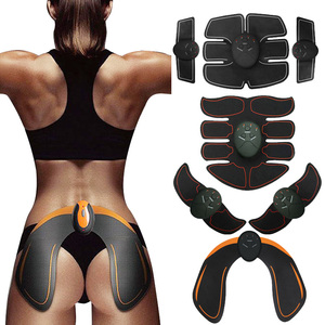 EMS Wireless Muscle Stimulator ABS Abdominal Muscle Trainer Toner Body Fitness Hip Trainer Shaping Patch Sliming Trainer Unisex