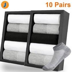 10 пар в партии мужские носки короткие носки до лодыжки невидимые Зимние Черные Серые дышащие тонкие хлопковые носки мужские Размер EUR 38-42 (US6....