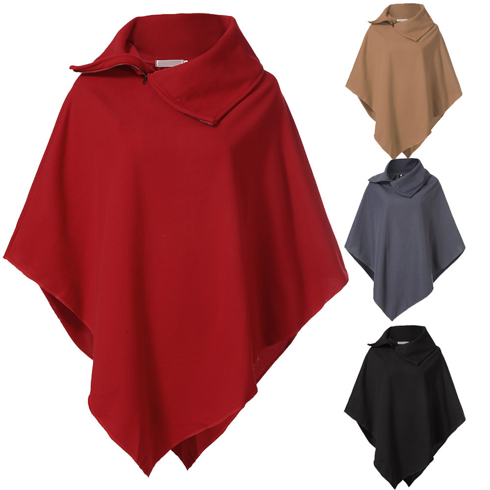 Spring Cloak Women Knitted Solid Capes Shawl Coat Ponchos Mujer Invierno Elegantes  Cape Poncho Women