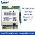 Banda Dupla Sem Fio Hackintosh Bcm94352z Bcm94360ng Wifi Cartão Broadcom M.2 1200 Mbps Bluetooth 4.0 Ngff 802.11ac Adaptador Dw1560