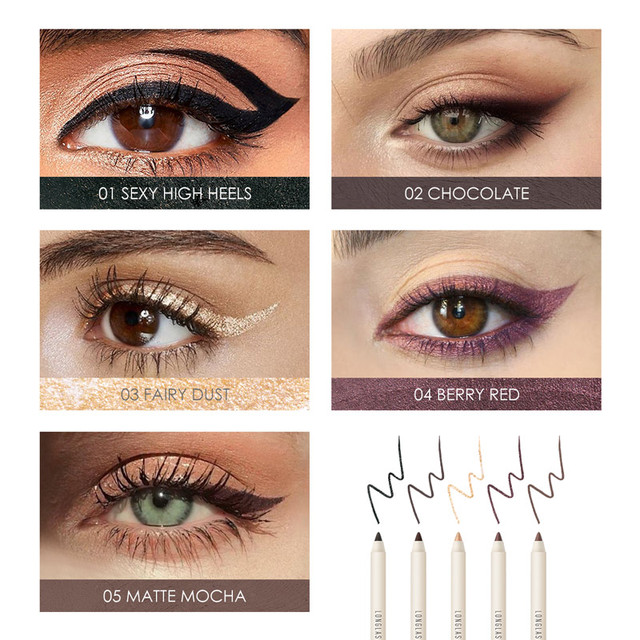 FOCALLURE Long-lasting Gel Eyeliner Pencil Waterproof Easy To Wear Black Liner Pen Eye Makeup 1