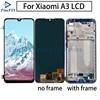 Oled qualidade lcd para xiaomi mi a3 display lcd com moldura para mia3 lcd digitador assembléia peças de reposição formi a3 display