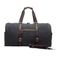 New Style Travel Large Capacity Handbag Shoulder Cross body Multi functional Luggage Bag Men's Casual Canvas Bag