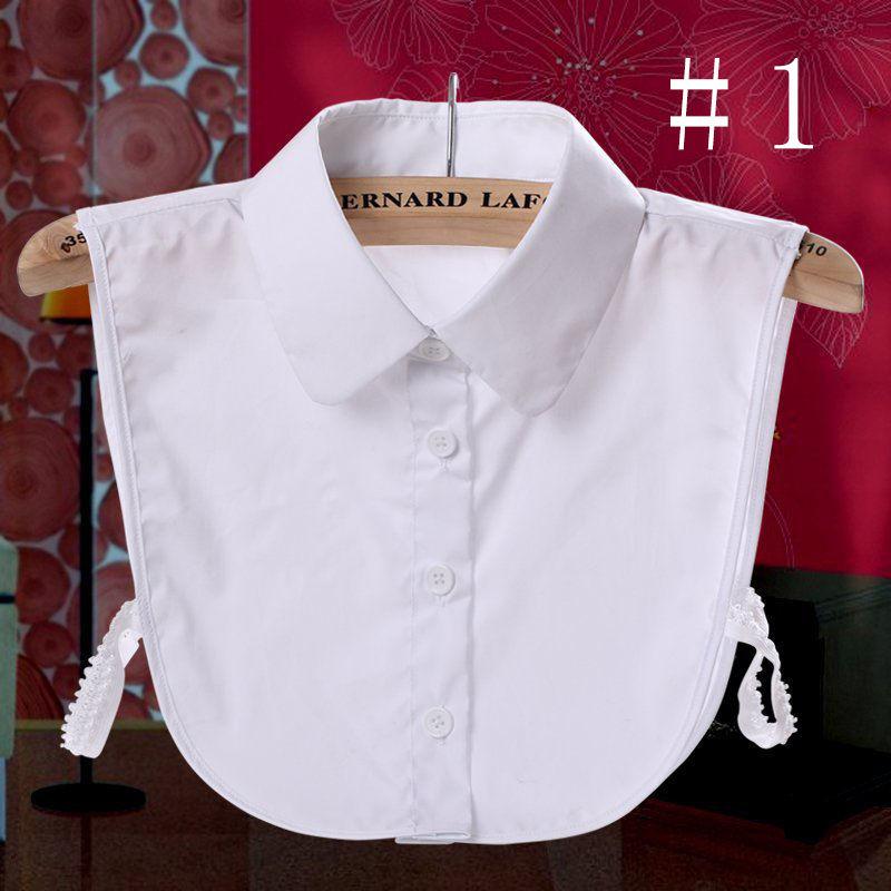 Ladies False Collar Women Lapel Half Shirt Fake Clothes Cotton Bib Sleeveless Party Office