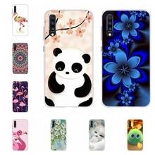 For Samsung Galaxy A10 A40 Case Soft TPU Silicone A20 A30 Cover Wolf Pattern A50 A70 Funda