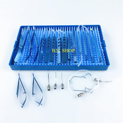 21 шт. Титан Катаракты Набор теней для глаз лоток для стерилизации коробка из нержавеющей стали для стерилизации