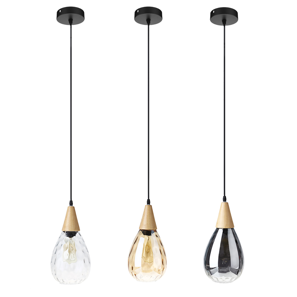 Modern Glass Pendant Light Lamp Living Room Home Decoration Restaurant Hanging Lighting Home Bar Drop Glass Fixture E27 220V