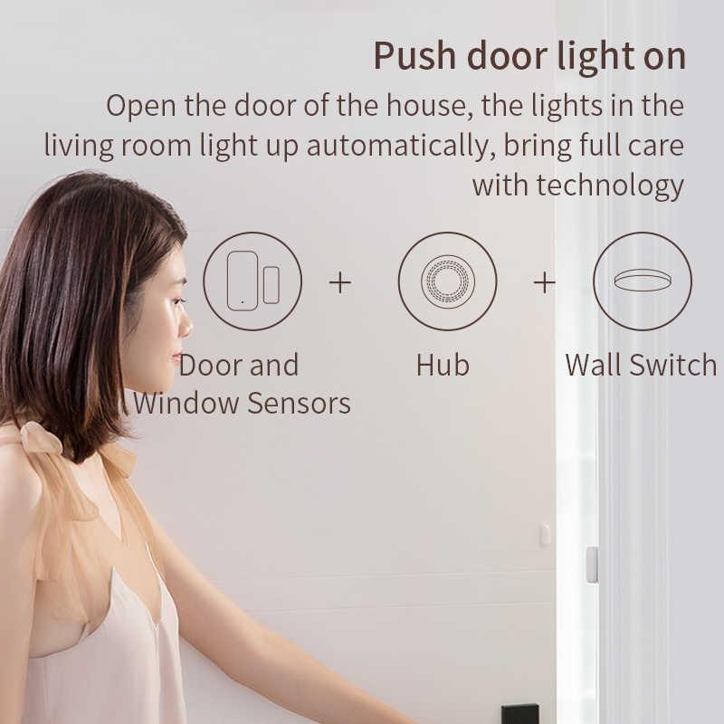 Xiaomi kapı pencere sensörü akıllı ev kablosuz anahtarı Alarm sistemi Zigbee kablosuz bağlantı ile çalışmak Mijia Hub Mi ağ geçidi 3