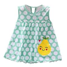 Summer sleeveless Toddler Cute Baby dress Cotton Striped Dot