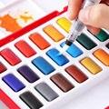 FABER-CASTELL 24/36/48 cores sólido aquarela bolos tintas definir desenho pintura