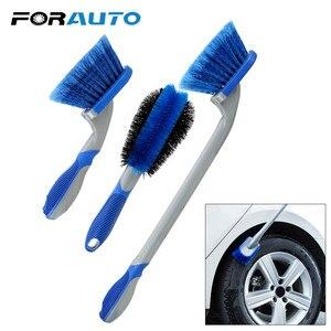 Image 1 - Leepee multi funcional carro detalhando escova de roda de carro ferramenta de combinação de lavagem de carro ferramenta de limpeza de pneus de poeira de carro escova