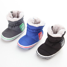 Winter Baby Shoes Boy Warm Infant Fleece Baby Boots Toddler Windproof Cotton Fabric Boots New Soft Flat With Plush First Walkers