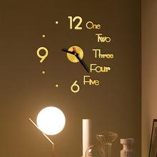 Bricolage 3D numéro horloge murale miroir autocollant miroirs décoratifs Surface horloge murale maison bureau chambre Art Design décor pegatinas de par