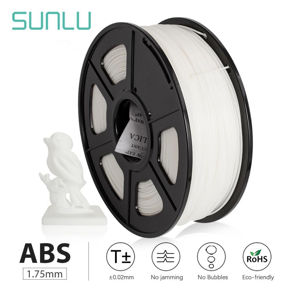 SUNLU 1 كجم 1.75 مللي متر خيط ABS تسليم سريع الملونة خيوط سلك بكرة reprap 3D طابعة 1.75 مللي متر 1 كجم لكل لفة
