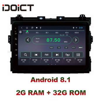 IDOICT Android 8.1 IPS Screen 2G+32G  Car DVD Player GPS Navigation Multimedia For Toyota Previa Radio car stereo