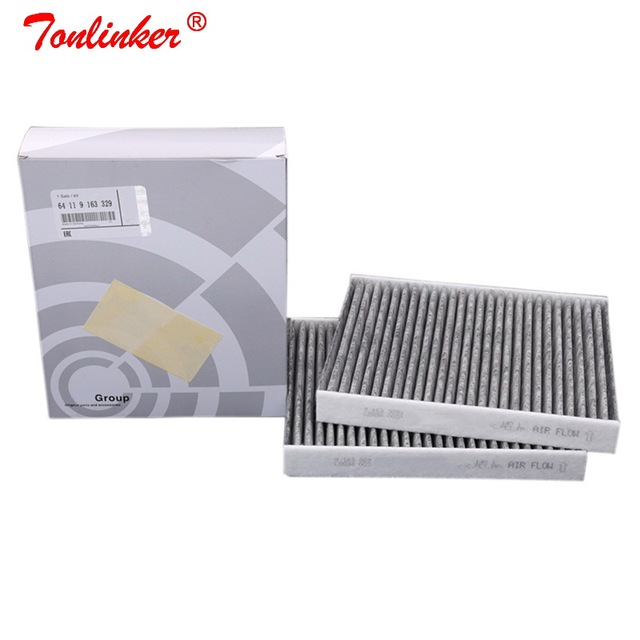 Cabin Filter Oem 64119163329 For Bmw 5 F07 F10 F11 2009 2019 518d 520d 520i 523i 525i 528i 530d 535d 550i M5 2Pcs Carbon Filter