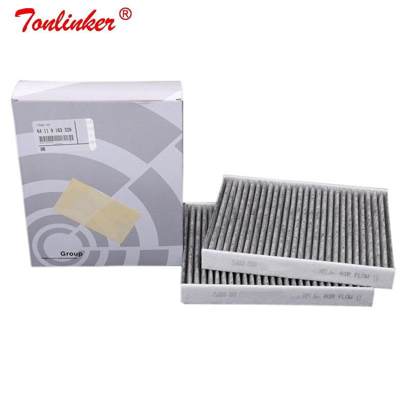 Filtr kabinowy Oem 64119163329 dla Bmw 5 F07 F10 F11 2009-2019 518d 520d 520i 523i 525i 528i 530d 535d 550i M5 2 sztuk filtr węglowy