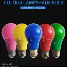 Светодиодсветильник лампочсветильник E27, 5 Вт, 7 Вт, 9 Вт, красная, синяя, зеленая, желтая