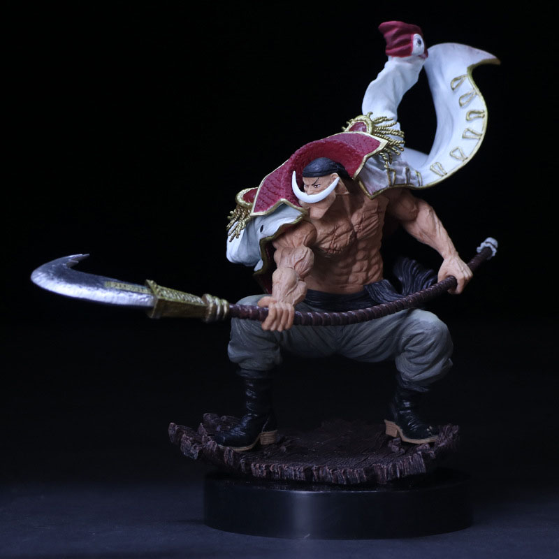 One Piece Hands To Do The Model Version Of The Gold And White <font><b>Beard</b></font> Anime Figurines The Fighting Ornaments Action Figure Toys image