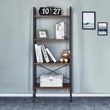 Estantería con 4 estantes de esquina y estanterías de almacenamiento, estantería Industrial, mueble de madera, organizador de almacenamiento en habitación